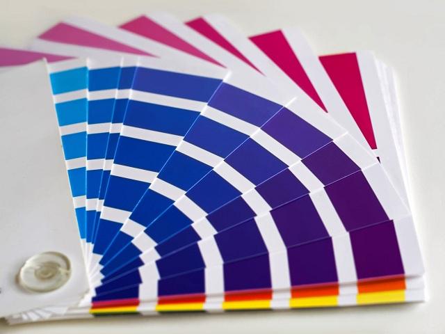 Karta med färgprover